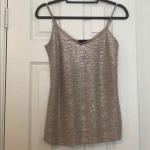 The limited gold shimmery tank sz small Worn once